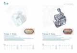 High quality!Dental ceramic passive self ligating brackets,ROTH022/MBT022,U/L 5x5,Hooks 345,CE/FDA