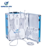 High quality Multi-functional dental portable unit,self-contained air compressor(stainless steel tank), small and convenient,best choice! GU-P204S,CE
